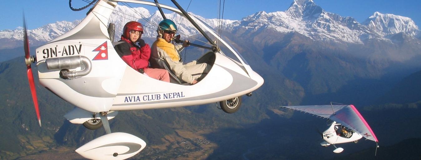 Ultralight Flight in Pokhara
